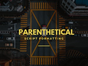 Parenthetical in Scriptwriting - How to use and what to avoid